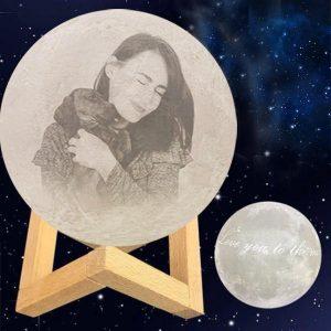 Customize 3d Printed Lamp Moon Night Light