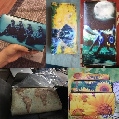 Customized Long Wallet With Picture For Women
