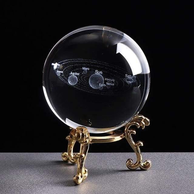3D Solar System Crystal Ball
