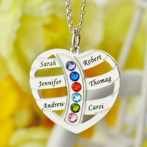 Birthstone Necklace for Mom