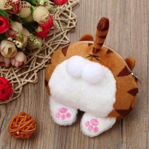 Cat Butt Fluffy Purse Bag