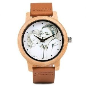 Custom Engraved Photo Wood Watch