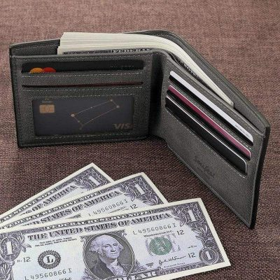 Customize Photo Engraved Leather Wallet