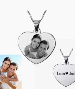 Customize Photo Necklace Heart Shape