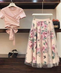 Elegant Short Sleeve Long Dress