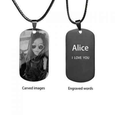 Engraved Personalized Photo Necklace