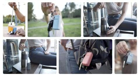 Collapsible Reusable Straws