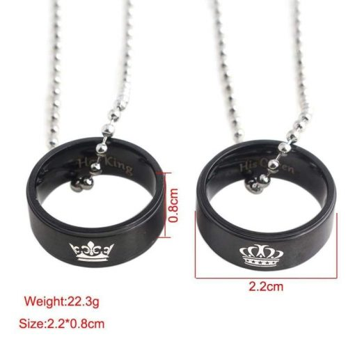 King and Queen Ring Crown Couple