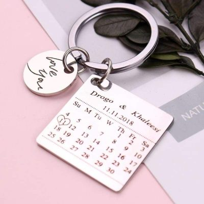 Personalized Birthday Gift Calendar Keychain