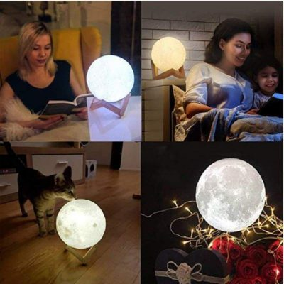 Customize 3d Printed Lamp Moon Night Light