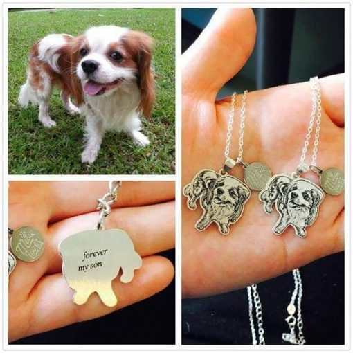 Personalize Silver Pet Necklace