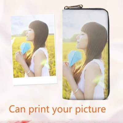 Customized Fashion Women Wallet Zip With Image