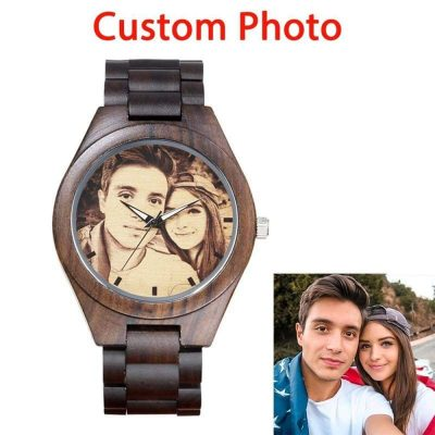 Personalized Wooden Engraved Watch