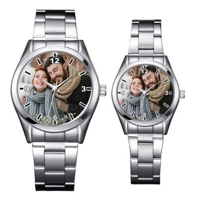 Personalized Stainless Steel Watch With Photo