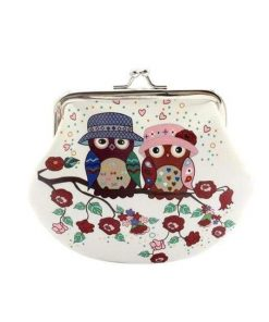 Small Wallet Hasp Owl Purse Clutch Bag