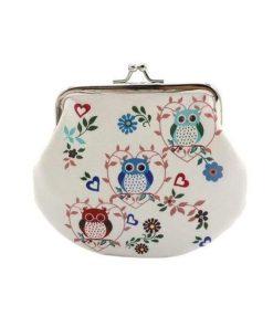 Small Wallet Hasp Owl Purse Clutch Bag