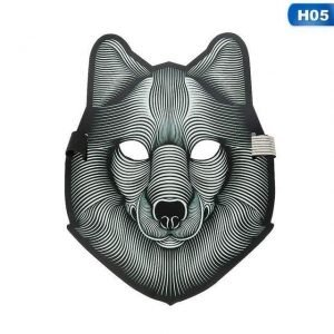 Sound-Activated LED Mask