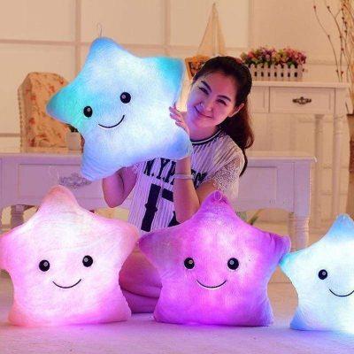 Star Shaped Glow LED Cushion