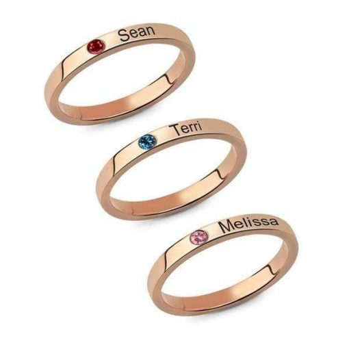 Stacking Personalized Name Rings