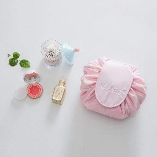 Magic Drawstring Travel Pouch Cosmetic Makeup Bag