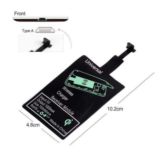 Universal Wireless Charging Receiver for Android and Iphone