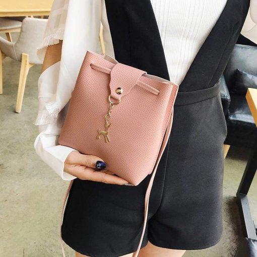 Leather Female Messenger Bag