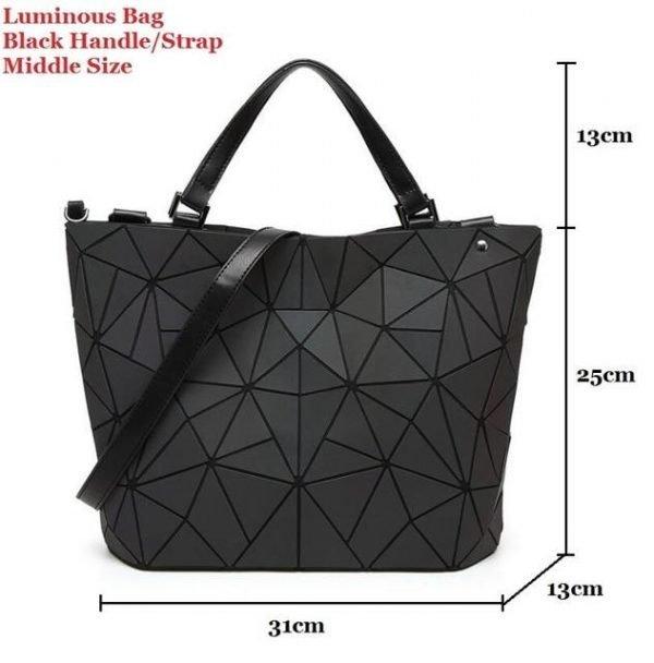 Luminous Holographic Geometric Backpack