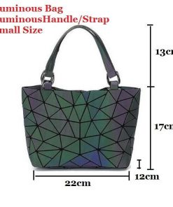 Luminous Holographic Geometric Backpack
