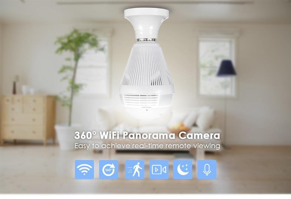 360-Degree Wireless Bulb Camera