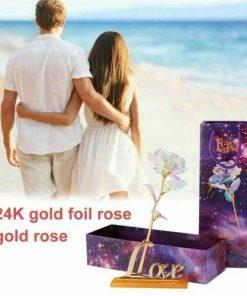 White Lighting 24K Eternal Gold Rose
