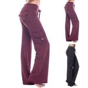 Stretchy Soft Bamboo Pocket Yoga Pants