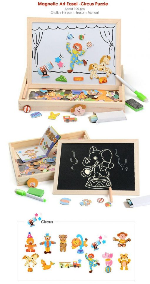 Magnetic Drawing & Puzzle Educational Board