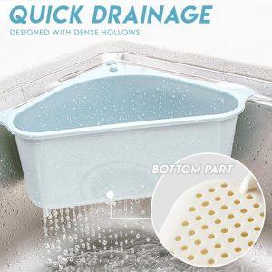 Triangular Sink Drain Shelf