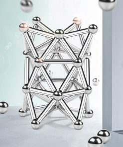 Magnetic Steel Sticks & Balls Building Set