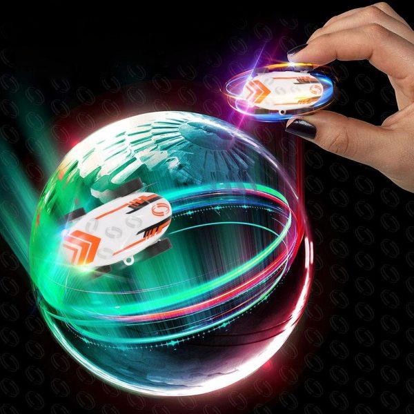Glowing High-Speed Spinning Car