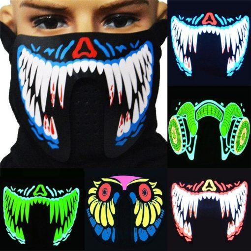Led Music Beat Face Mask
