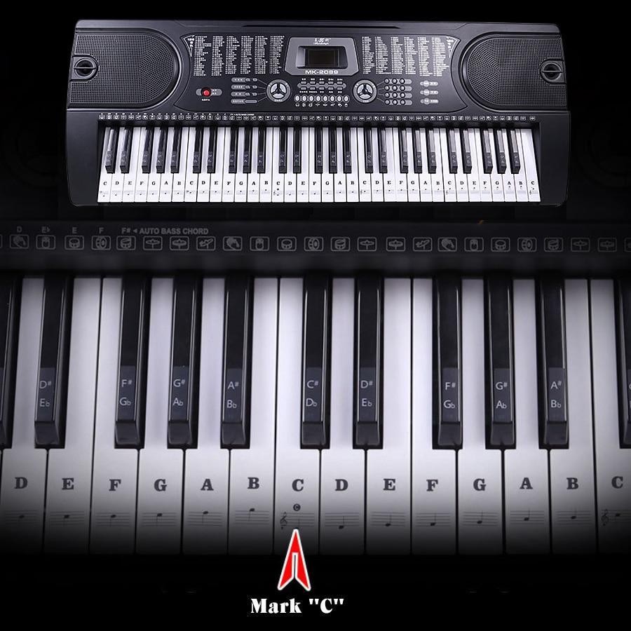Ultimate Full Set Piano Key Sticker