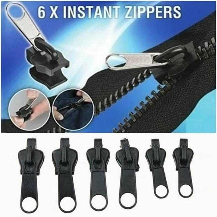 Clip & Zip Quick Fix - Instant Zipper Set (Set of 6)