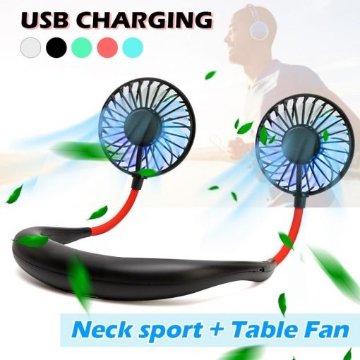 Portable Hanging Neck Sports Fan