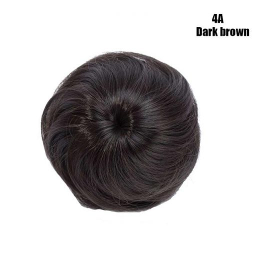 Fake Hair Bun Clip On Man