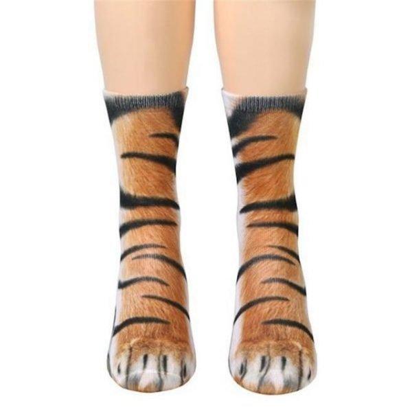 Animal Paw Crew Socks
