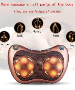 shiatsu heated pillow for neck and back massager