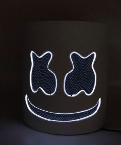 Led Light Marshmello Helmet Dj Mask Neon