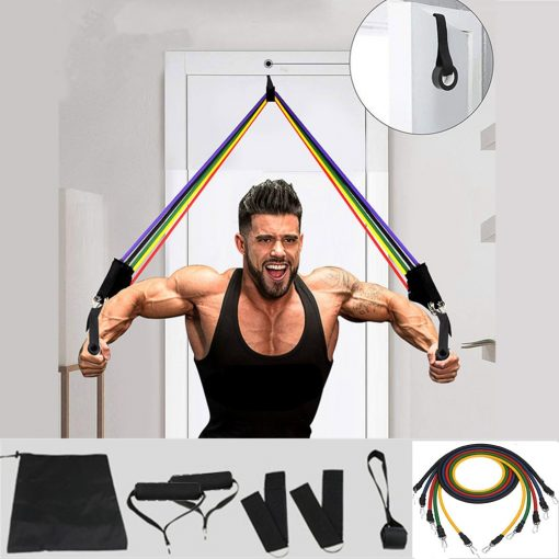 11 Pcs/Set Resistance Training Band For Yoga Exercise Crossfit Fitness