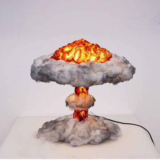 3D Night Light Nuclear Explosion Mushroom Cloud Lamp