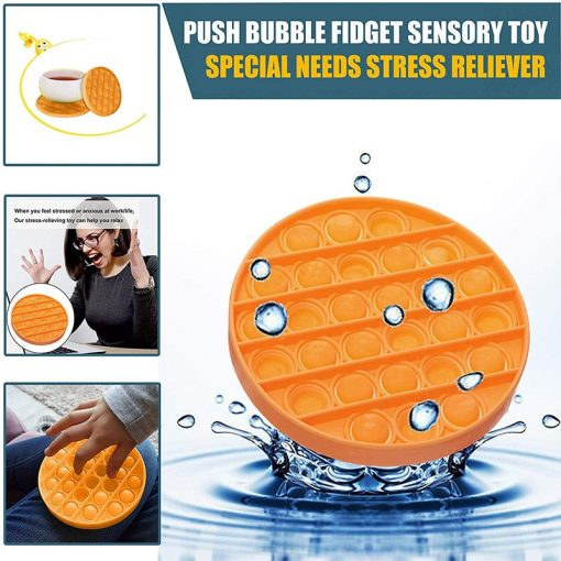Premium Silicone Push Poke Pop Bubble Sensory Fidget Toy