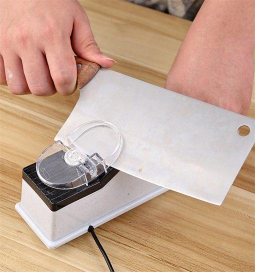 Electric Knife Sharpener Grinder Motorized Sharpening Stone Kitchen Tool
