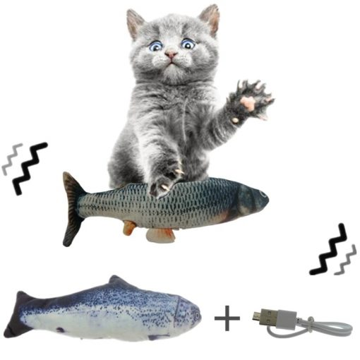 Electric Moving Fish Cat Kicker Toy