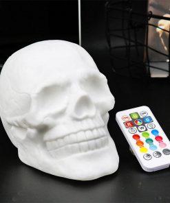 Colourful LED Flash Skull Head Patting Lamp