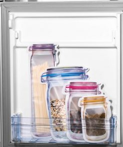 Reusable Mason Jar Zipper Bags Lock Food Storage